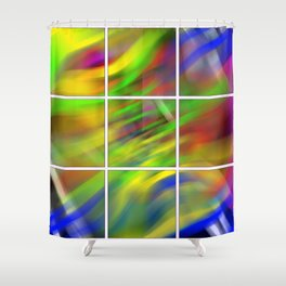 colourful abstraction Shower Curtain