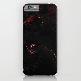 Dark Red Marble iPhone Case