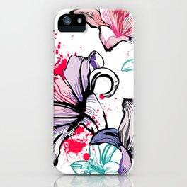 Splashy Flowers iPhone Case