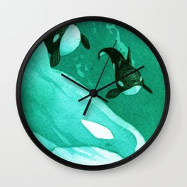 Orca Currents Wall Clock
