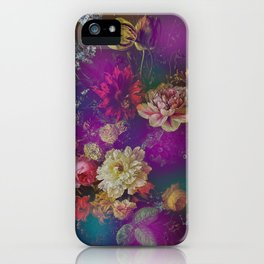 Happy Colorful Vintage Flowers iPhone Case