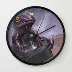 Fire Salamander Wall Clock