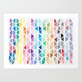 Colour Triangle Pattern Art Print