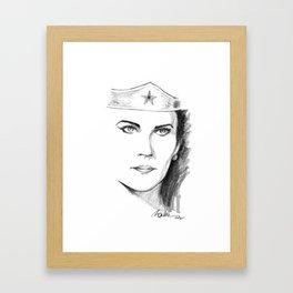 Lynda Carter Framed Art Print