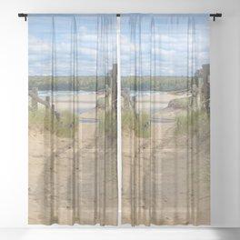 Beach Path Sheer Curtain