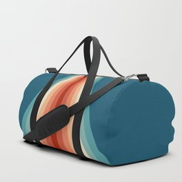 Colorful retro stripes design Duffle Bag