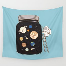 confined space Wall Tapestry