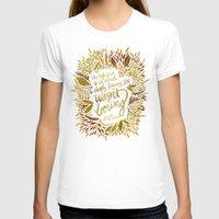 fitzgerald T-shirts featuring Zelda Fitzgerald – Fall Palette by Cat Coquillette