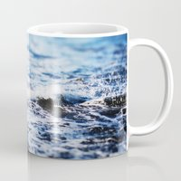 surf Mugs featuring Surf by Leah Flores