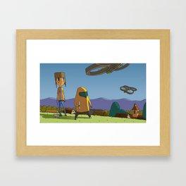 KING OF DRONES Framed Art Print