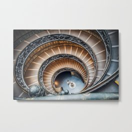 Vatican Museums Staircases Metal Print