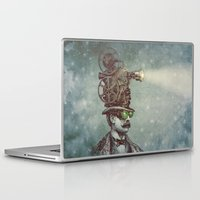 roman Laptop & iPad Skins featuring The Projectionist (colour option) by Eric Fan