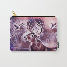 A 10 Point Deer Buck Crossing the Lake Carry-All Pouch