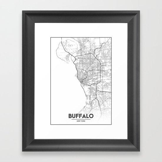 Minimal City Maps - Map Of Buffalo, New York, United States by valsymot