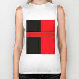 Team Colors 6...red,black,white Biker Tank