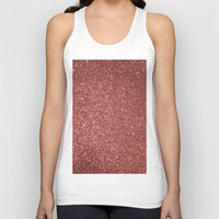 gold glitter Tank Tops featuring ROSE GOLD GLITTER by I Love Decor