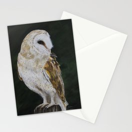Jazz The Barn Owl by Teresa Thompson Stationery Cards