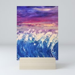 I Sat By the Ocean Mini Art Print