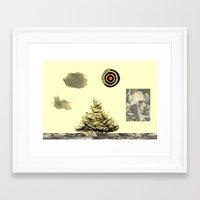 poem Framed Art Prints featuring Poem. by Sunny-studio's™