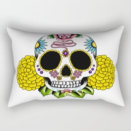 Day of the Dead Flash | Sugar Skull 2 Rectangular Pillow
