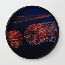 Moving light trails Wall Clock