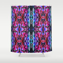 Abalone Symmetry in Pink Shower Curtain