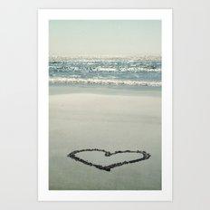 I ♥ the Beach! Art Print