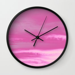Pink Summer Vibes #1 #decor #art #society6 Wall Clock