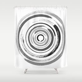 Enso Circles - Zen Circles #1 Shower Curtain