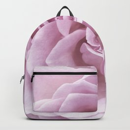 Pink Heart of a rose Roses Flowers Backpack