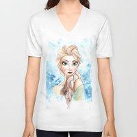 elsa V-neck T-shirts featuring elsa by mejony