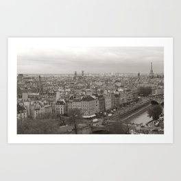 Rooftops of Paris Art Print