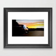 Hockenheim Sunset Framed Art Print