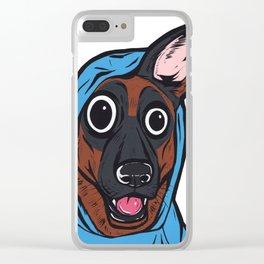 German Shepherd Hoodie Clear iPhone Case