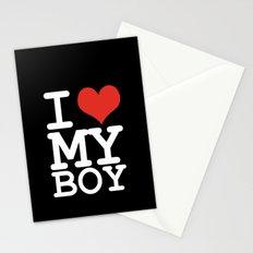 I love my boy Stationery Cards