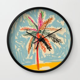 VACATION PALM TREE Wall Clock