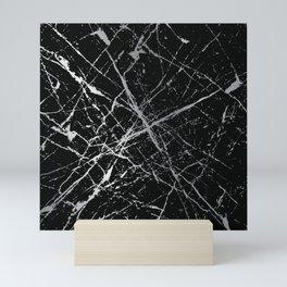 Silver Splatter 090 Mini Art Print