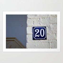 Twenty Art Print