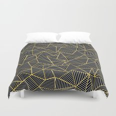 Ab Out Double Repeat Black Duvet Cover