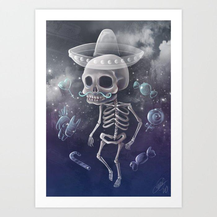 Candy Bones Art Print
