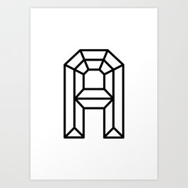 Clear Crystal A Art Print