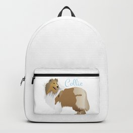 Graceful Rough Collie Backpack