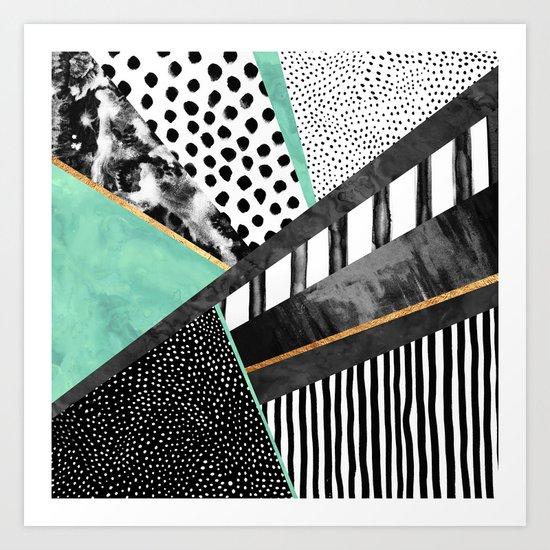 Lines & Layers 3 Art Print