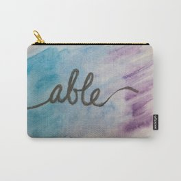 able watercolor print Carry-All Pouch