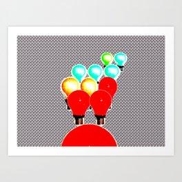 LIGHTBULBS 35 Art Print