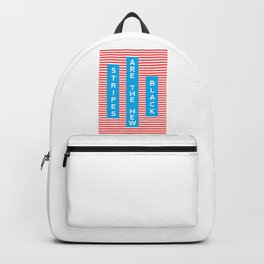 Stripes Are The New Black, typography poster, t-shirt Backpack