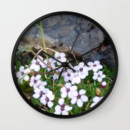 Volcanic flowers Wall Clock
