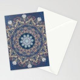 Blue's Golden Mandala Stationery Cards