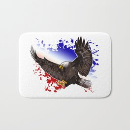 Bald Eagle - Red, White & Blue Bath Mat