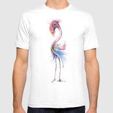 flamingo MEDIUM Mens Fitted Tee White